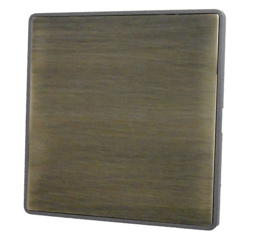 G&H LAB31  Screwless Antique Bronze 1 Gang Single Blank Plate